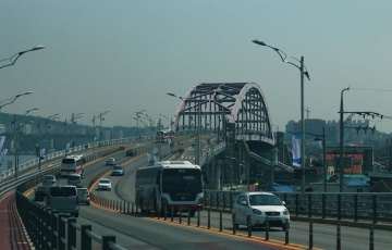 traffic jam, city, street, road, bridge, urban, architecture, car