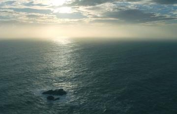 Wasser, meer, ozean, landschaft, meerblick, sonnenuntergang, strand, horizont, dämmerung