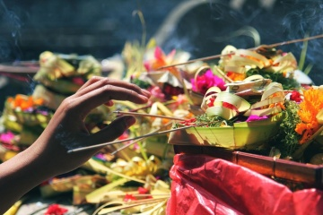 incense, hand, flower, celebration, festival, people, decoration, color