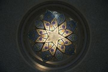 Lampada, luce, scuro, decorazione d'interni