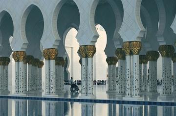 Mosquée, luxe, religion, voûte, extérieur, architecture