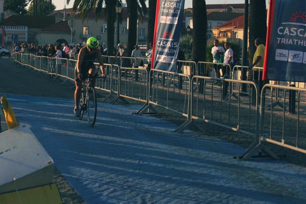 Muž, vozidlo, ulici, lidé, silniční, sport, soutěž, triatlon, závod, cyklista