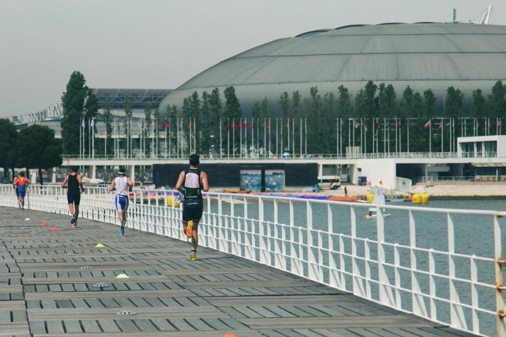 lidé, sport, sportovec, město, voda, letní, obloha, most, rasy, krajina, konkurence