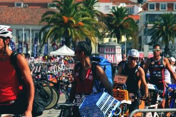 athlete, triathlon, sport, competition, people, race, cyclist, bicycle, crowd