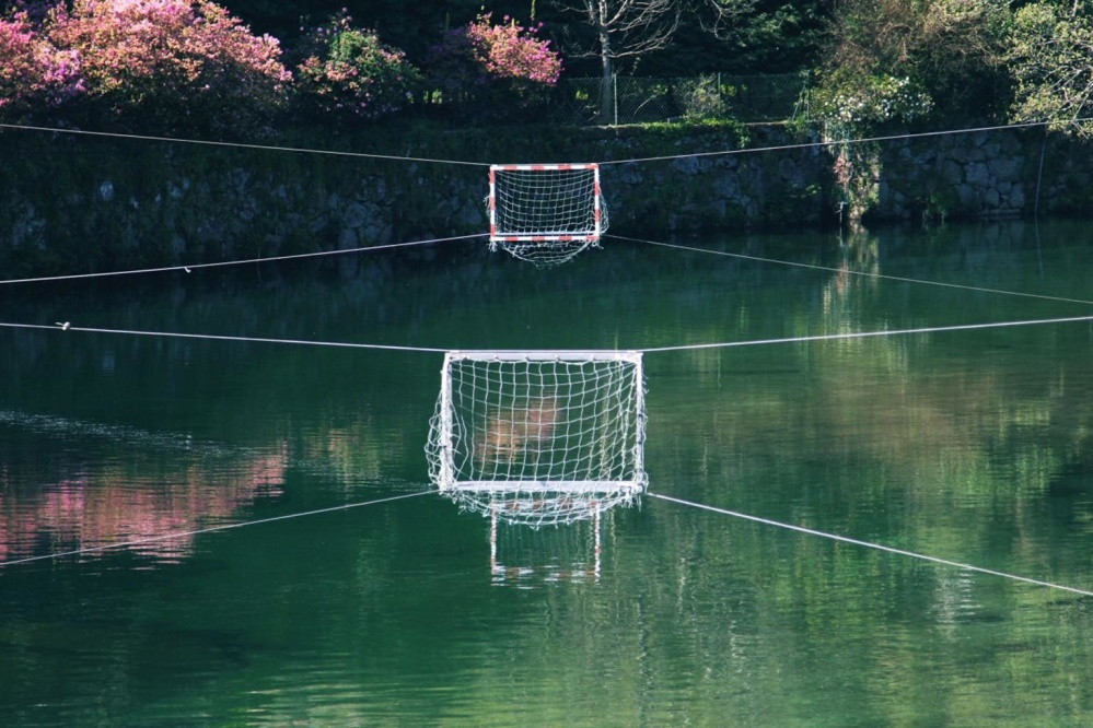 water polo, sport, water, recreation, reflection, landscape