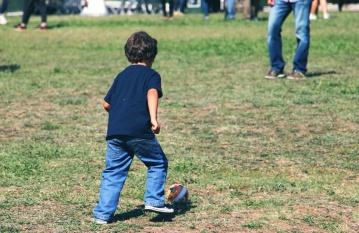 child, boy, grass, fun, recreation, people, summer, lifestyle, happiness, enjoyment, lawn