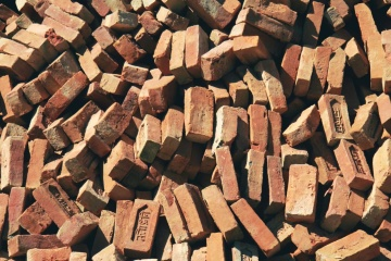 brown, brick, object, material, pile