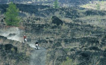 Moto, moto, course, sport, transport, paysage, montagne, vallée