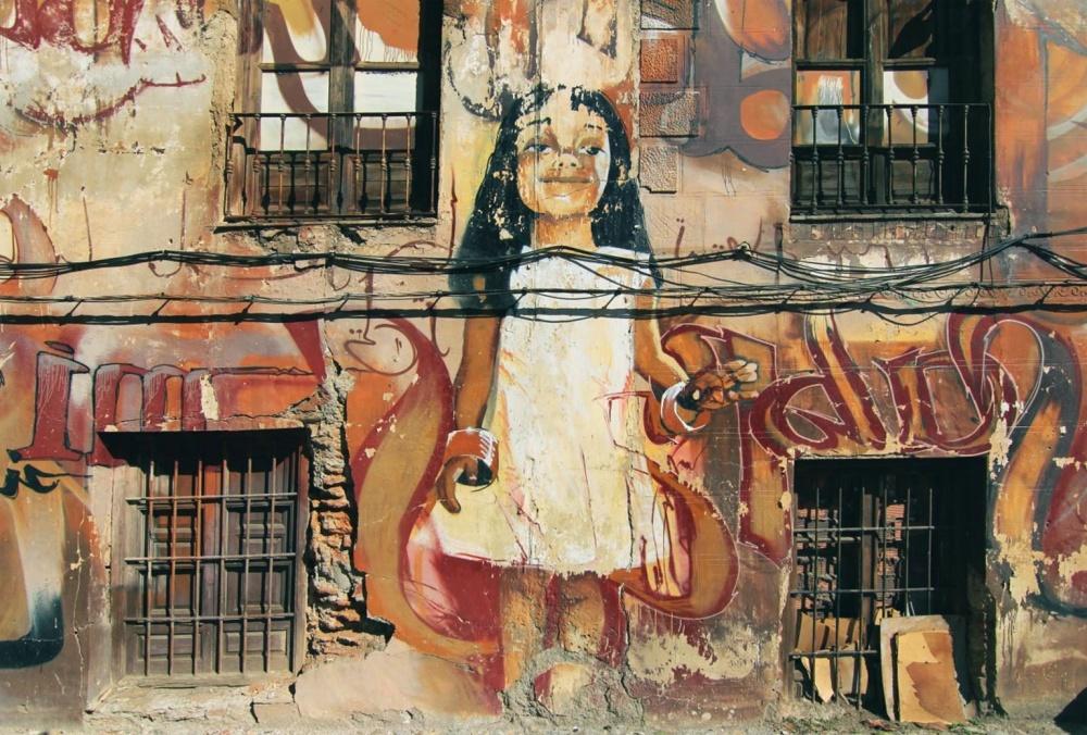 graffiti, art, street, wall, urban, old, architecture