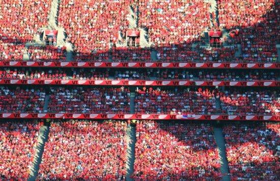 Foule, personnes, sport, football, football, stade de football
