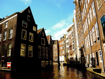 canal, architecture, street, city, urban, cityscape, downtown