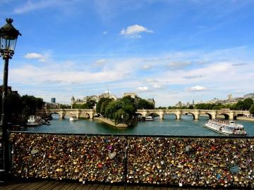 Eau, architecture, ville, rivière, ciel, pont, urbain
