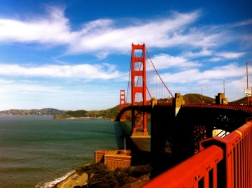 Ponte, città, spiaggia, mare, paesaggio, acqua, mare, oceano, cielo