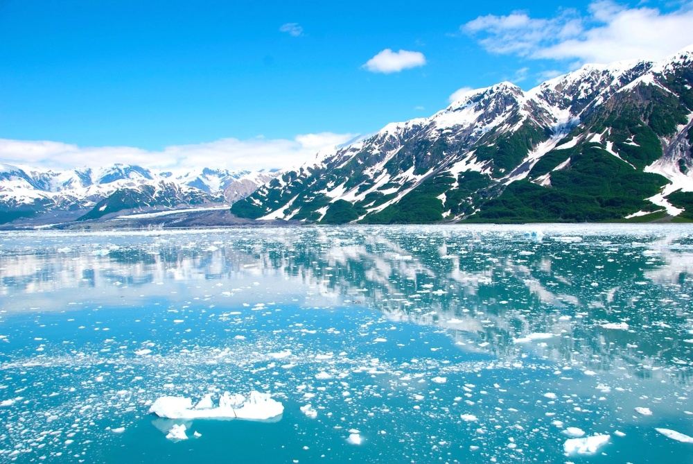 lake, snow, water, mountain, nature, glacier, landscape, ice