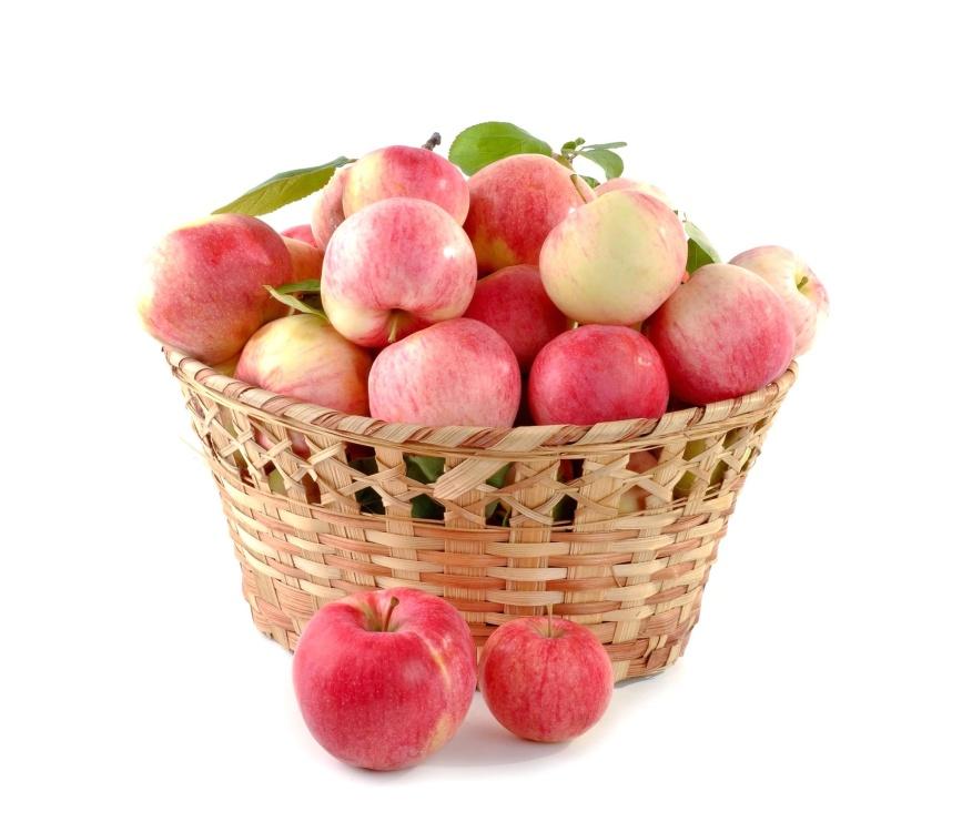Cesta de mimbre, todavía vida, fruta, dieta, nutrición, manzana, delicioso, comida