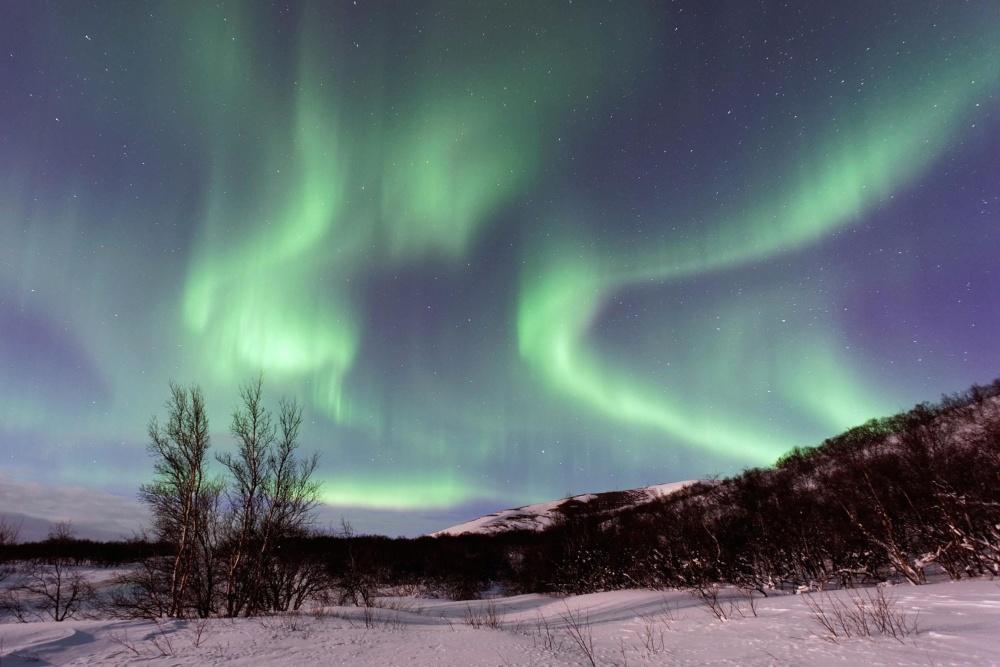 Natura, cielo, paesaggio, inverno, luna, sole