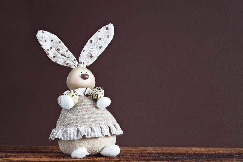 brinquedo, decoração, objeto, coelho