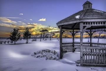 Neige, extérieur, hiver, ciel, nature, station, froid, paysage
