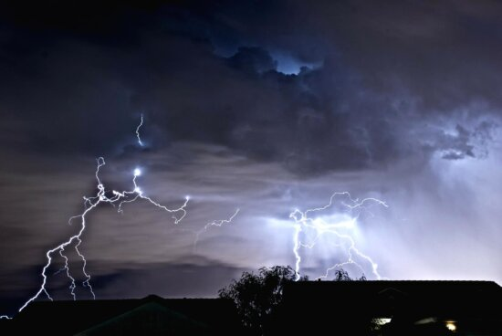 storm, thunderstorm, thunder, rain, thunderbolt, sky, night, dark