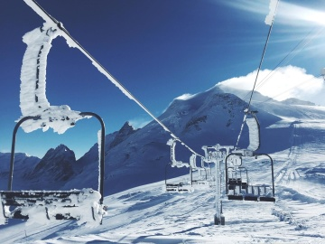 snow, winter, cold, ice, mountain, sky, resort, nature