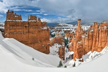 winter, snow, canyon, nature, valley, winter, cold
