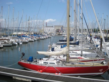 harbor, sailboat, yacht, sea, marina, pier, water, watercraft