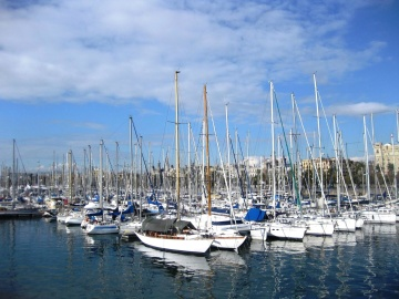 marina, harbor, yacht, pier, sailboat, sea, summer, water, boat