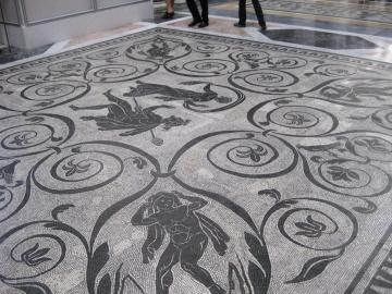 Mosaico, arte, astratto, pavimento
