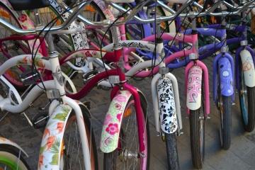 Fahrrad, rad, straße, stadt, leute, unterhaltung, städtisch, fahrzeug, bunt