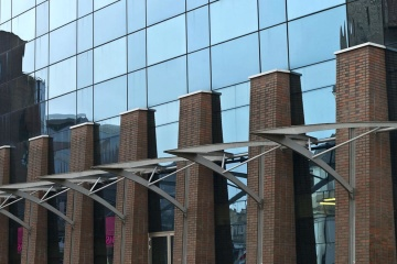 glass, steel, facade, modern, reflection, building, exterior, architecture