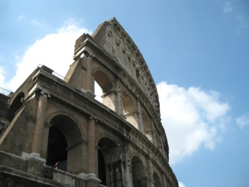 colosseum, landmark, architecture, exterior, ancient, arch