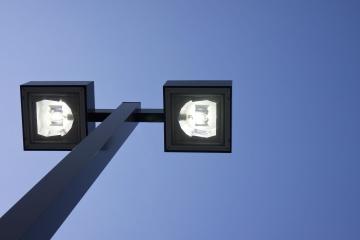 Lumière, ciel, lampadaire, électricité, ciel bleu, technologie