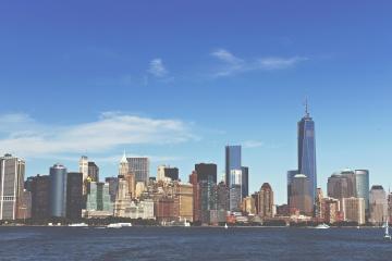 Centre-ville, ville, bureau, architecture, paysage urbain, front de mer, urbain