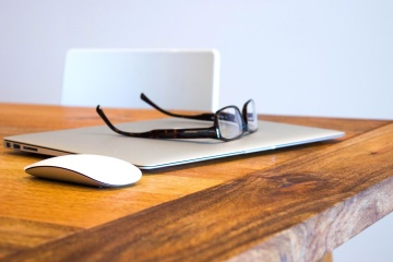 table, wood, office, business, equipment, laptop computer, eyeglasses