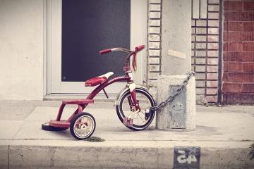车轮, 街道, 自行车, 三轮车, 车辆, 道路