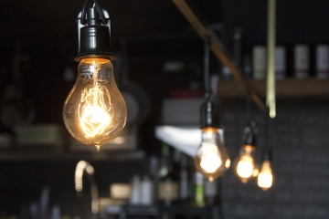 lamp, light bulb, electricity, illuminated, lantern, restaurant, light