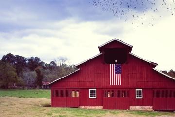 Fienile, casa, fattoria, agricoltura, esterno