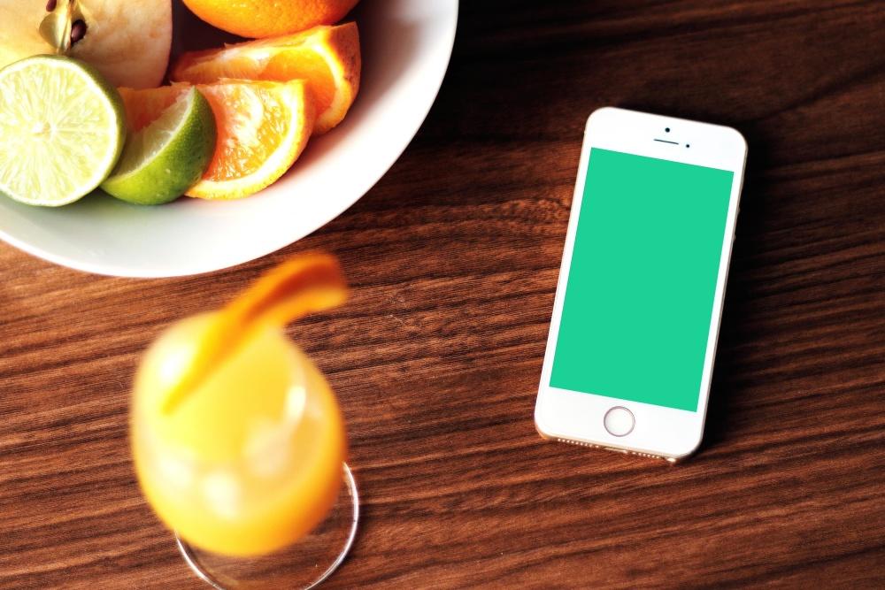 лимонний харчування дієта, цитрусові, мобільний телефон, коктейль