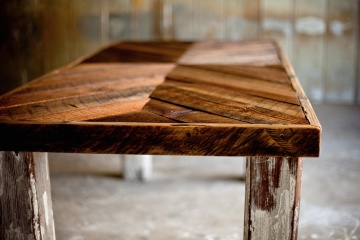 Madera, madera, viejo, escritorio, muebles, hecho a mano