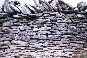 sten, gamla, vägg, staket, strukturera, vägg, sten