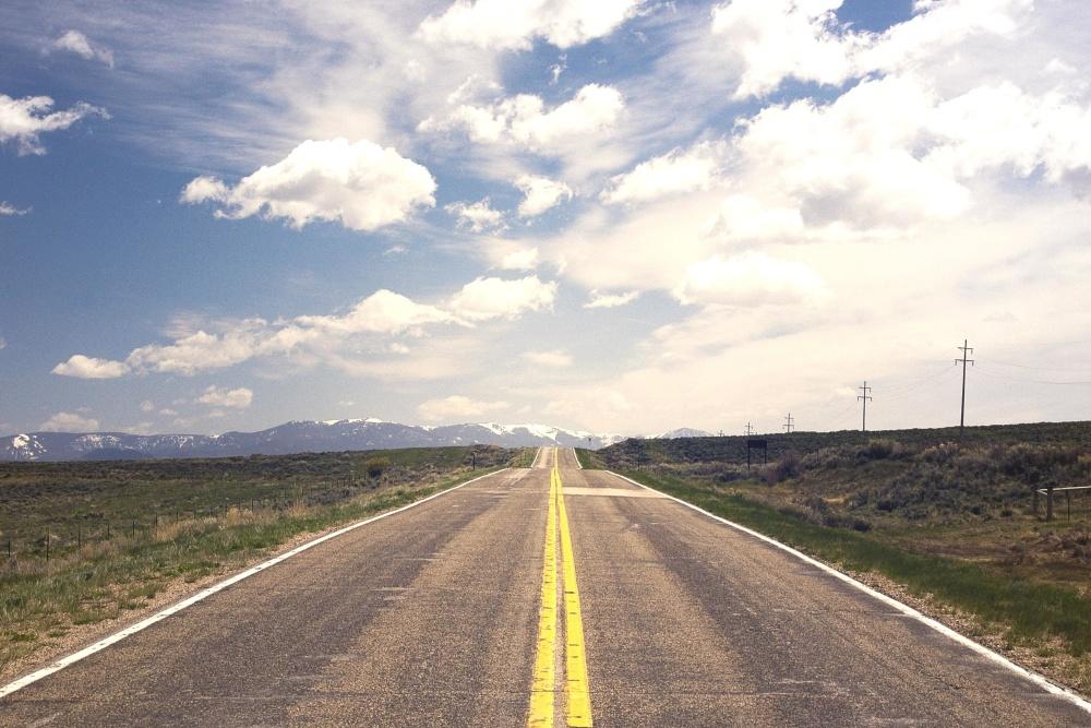 Camino, paisaje, cielo, carretera, asfalto, camino
