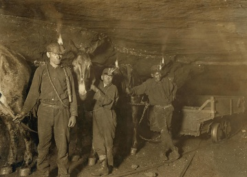 people, man, child, uniform, serviceman, mine, miner, old, work, underground