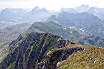 βουνό, τοπίο, φύση, ουρανό, κοιλάδα, κορυφή του βουνού, χιόνι