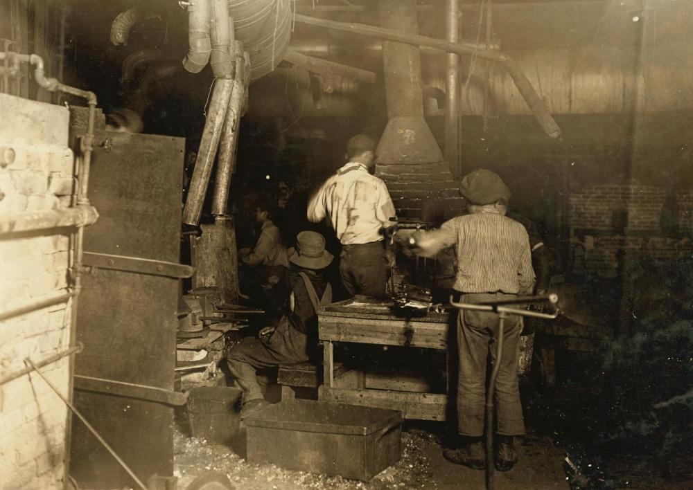 djeca, posao, tvornica, industrija