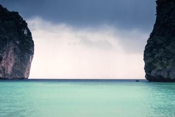 Tropique, île, eau, plage, océan, mer, nature, ciel, été, paysage