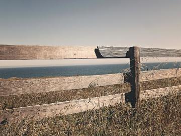 gard, apa, mare, plaja, peisaj, ocean, cer