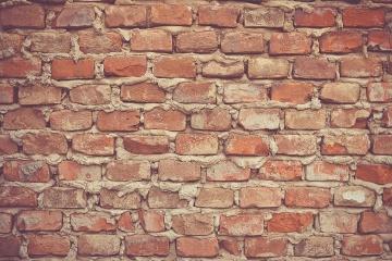 Parete, mattone, cemento, pietra, vecchio, sporco, solido, cemento