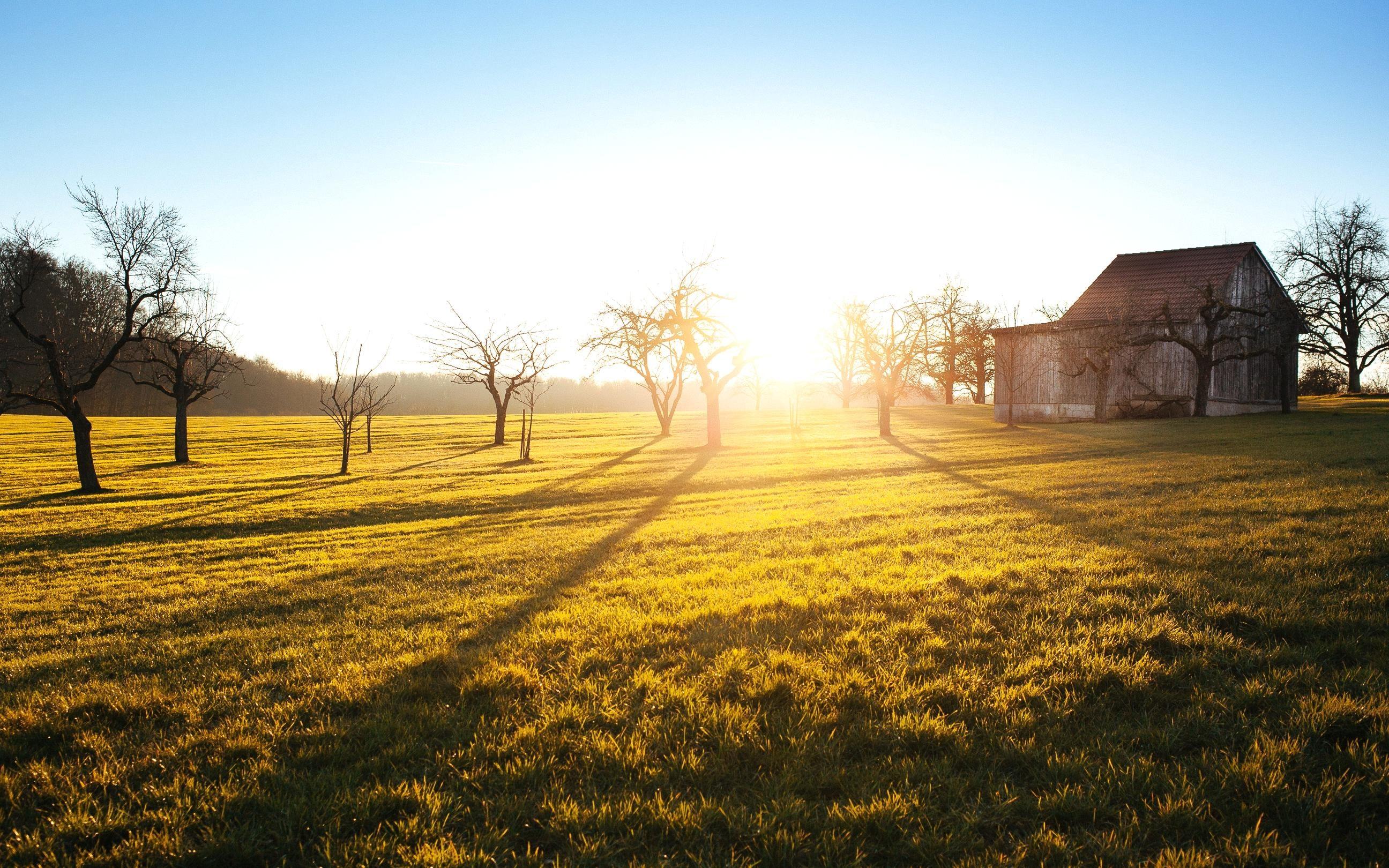 Kostenlose Bild: Landschaft, Feld, ländlich, Bauernhof ...