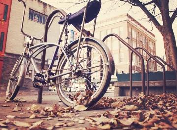 Bicicleta, calle, viejo, camino, vehículo, urbano, ciudad