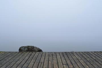gökyüzü, sis, doğa, ahşap, taş, sis
